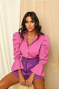 Camisa Tricoline Rosa