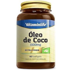 Oleo de Coco Extra Virgem 60 Softgels  Vitamin Life