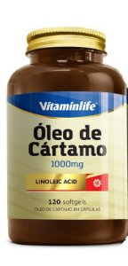 Oleo de Cartamo Vitamin Life 120 Softgels