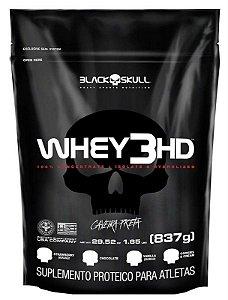 Whey 3HD Black Skull Caveira Preta 837 Gr