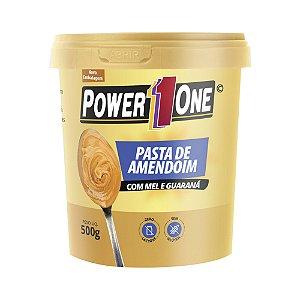 Pasta de Amendoim Mel com Guaraná 500 Gr Power One