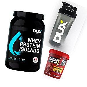 Kit Whey Isolado Dux + Pasta de Brigadeiro Proteico + Shaker DUX