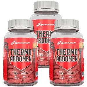 Combo 3x Thermo Abdomen 120tabs Cada Bodyaction