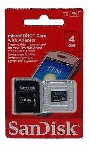 Cartão Micro SD 4GB