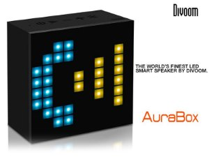 Caixa de som de led Aurabox