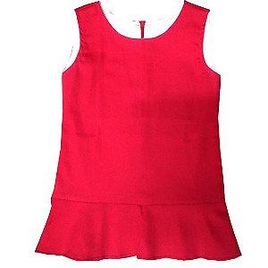 Vestido tubinho vermelho real
