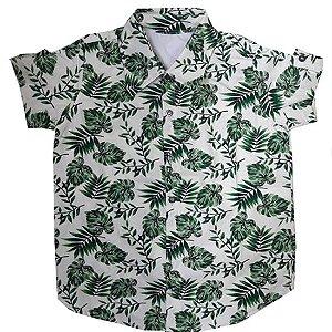 Camisa folhas tropicais