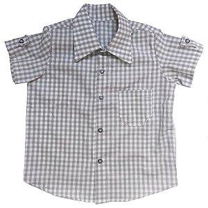 Camisa xadrez cinza