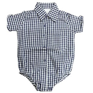 Camisa body xadrez azul