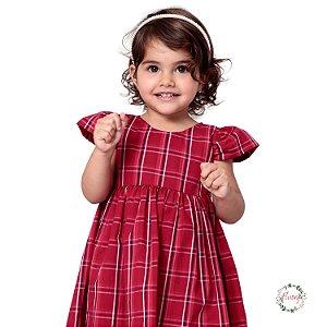 Vestido Tartan Vermelho