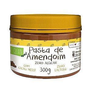 Pasta de Amendoim com Cacau Nibs (Zero Açúcar) - 300gr