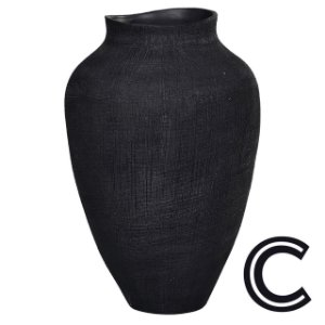 Vaso Cerâmica Preto Pequeno