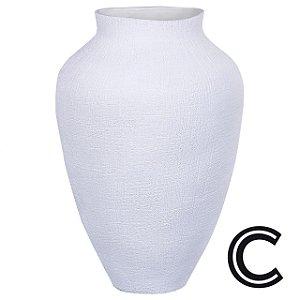 Vaso Cerâmica Branco Grande