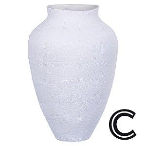 Vaso Cerâmica Branco Pequeno