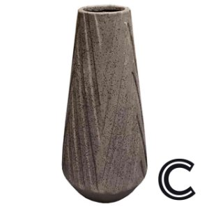 Vaso de Cerâmica Marrom Grande