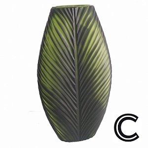 Vaso de Vidro Verde Grande