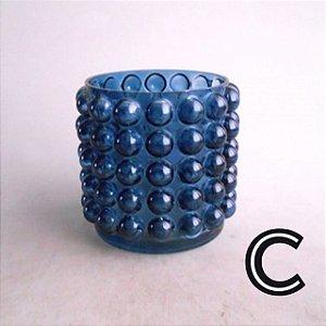 Vaso Bolas Azul