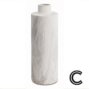 Vaso Mármore Cerâmica Longo G