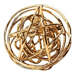 Esfera em Metal Cobre P