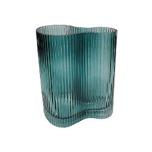Vaso Vidro Azul Forma M