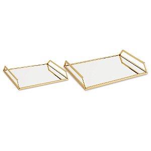 Bandejas com espelho kit
