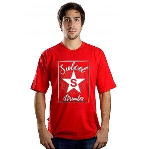 Camiseta Masculina Vermelha CM3033