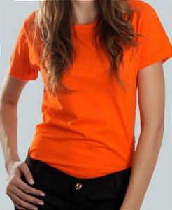 Camiseta Baby Look Laranja CB4733