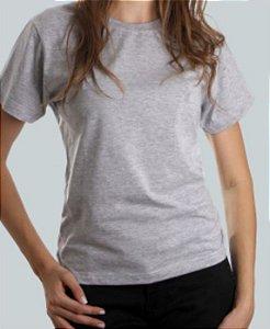 Camiseta Baby Look Cinza Mescla CB4735
