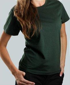 Camiseta Baby Look Verde Musgo CB4739
