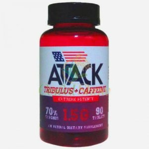 TRIBULUS ATACK COM CAFEÍNA C/90 TABLETS - NUTRITION FACTS