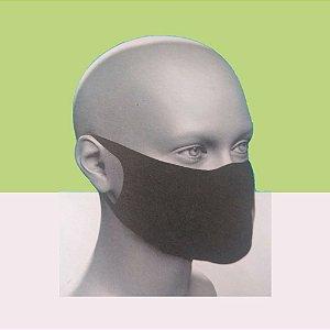 Máscara Proteção Rosto Preta Tecido 5 Unidades