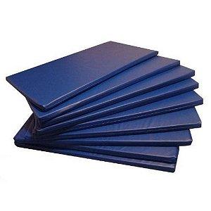 KIt 10 Colchonetes Ginástica, Academia E Yoga - 100 X 60 X 3 cm Orthovida - Azul