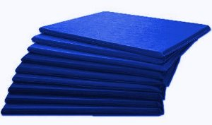KIt 10 Colchonetes Ginástica, Academia E Yoga - 100 X 50 X 3 - Orthovida
