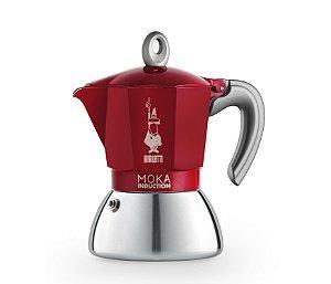 Cafeteira Italiana Bialetti Moka Induction 4 xíc. Vermelha