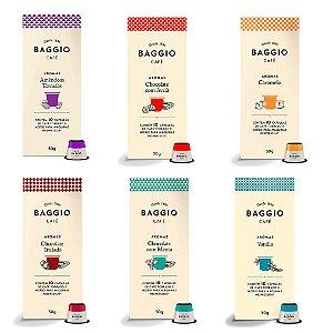Kit 60 Cápsulas de Café Gourmet Seleção Baggio Aromas
