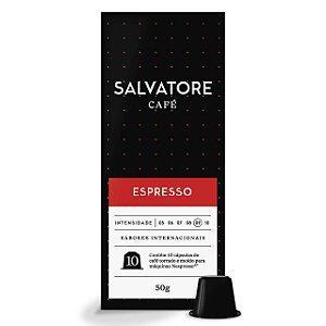 Café Gourmet Salvatore Espresso em Cápsulas 10 unidades Compatível com Nespresso