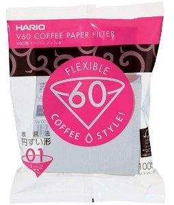 Filtro de Papel Branco para Coador de Café Hario V60 Tamanho 01
