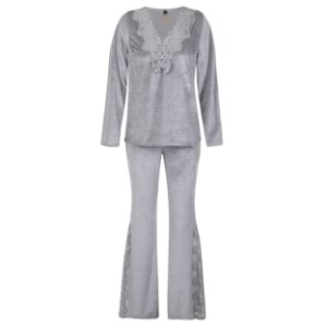 Conjunto Pijama Plush Cinza