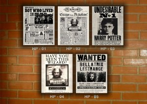 Placa Decorativa Vintage Retro Harry Potter
