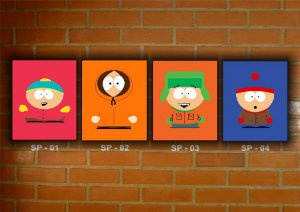 Placa Decorativa Vintage Retro South Park