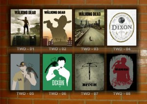 Placa Decorativa Vintage Retro The Walking Dead