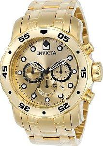 Relógio Invicta Pro Diver 0074 / 21924 Banhado Ouro 18k Cronografo 48mm