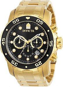 Relógio Invicta Pro Diver 0072 / 21922 Banhado Ouro 18k Cronografo 48mm