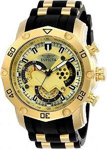 Relógio Invicta Pro Diver 23427 Banhado Ouro 18k Cronografo 50mm