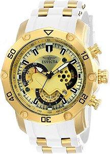 Relógio Invicta Pro Diver 23424 Banhado Ouro 18k Cronografo 50mm