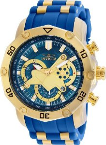 Relógio Invicta Pro Diver 22798 Banhado Ouro 18k Cronografo 50mm