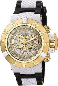Relógio Invicta Subaqua 0928 Noma III Banhado Ouro 18k Cronografo 50mm