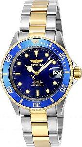 Relógio Invicta Pro Diver 8928ob Banhado Ouro 18k Automatico 40mm Misto