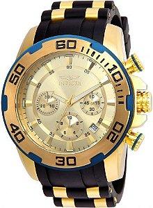Relógio Invicta Pro Diver 22345 Banhado Ouro 18k Cronografo 50mm