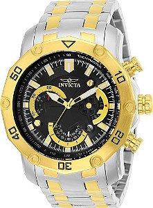 Relógio Invicta Pro Diver 22768 Aço Inox Banhado Ouro 18k Cronografo 50mm